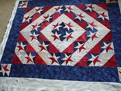 Steve's Star quilt, designed by Steve Bennett for his wife, Judy Martin's book, Piece 'n' Play Quilts. Made by Joyce as a 4th of July Quilt.