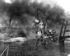 USS Shaw Pearl Harbor 7th Dec41