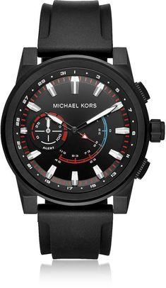 ba5701d4b Michael Kors MKT4010 Grayson Men's Smartwatch Fitness Watch, Seiko Watches,  Smartwatch, Chronograph,