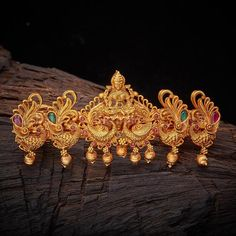 Buy Designer Hair Brooch For Women Online- Kushal's Fashion Jewellery Indian Jewellery Design, Indian Jewelry, Jewelry Design, Gold Jhumka Earrings, Gold Necklace, Hair Brooch, Real Gold Jewelry, Hair Accessories For Women, Hand Designs