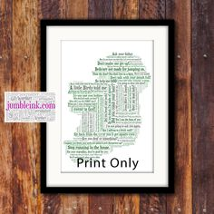 What Irish Mammy's Say Map of Ireland With Irish Sayings and Phrases by JumbleinkArt on Etsy Irish Quotes, Irish Sayings, Sayings And Phrases, Irish Art, Frame Shop, You Are The Father, Ireland, Map, Words