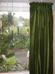 Image result for velvet green curtains
