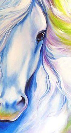 """Dreamscape (detail by Marcia Baldwin - Art Painting Watercolor Art, Art Painting, Animal Art, Art Drawings, Horse Painting, Painting, Animal Paintings, Unicorn Art, Canvas Painting"