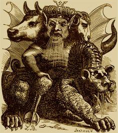 Biblical demon, Asmodeus. Jacques Collin de Plancy
