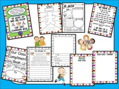 FREEBIE!!!   All About Me Web and Poster AND a Class Compliment Book! I have MORE FREEBIES and Back To School units!!