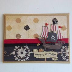 PIRATE PARTY. Pour inviter ses amis pirates, rien de mieux qu'une carte d'invitation !