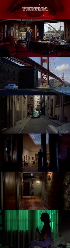 Vertigo by Alfred Hitchcock: Style and setup of the scene inspires me to do similar dramatic scene technique Alfred Hitchcock, Cinematic Photography, Film Photography, Storyboard, Actrices Blondes, Color In Film, Color Script, Cinema Film, Movie Film