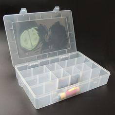 Caja de Herramientas caja de Herramientas de Plástico Electrónico De Piezas de Transparente A Prueba de agua grande Ataúd SMD SMT Tornillo de Contenedores Caja de Almacenamiento De Componentes