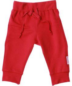 Baba Babywear cute baby pants in cool red. baba-babywear.en.emilea.be