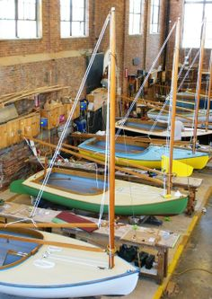 Beetle Cats being restored at IYRS, Newport R.I. (International Yacht Restoration School)