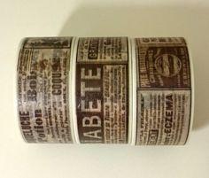 Masking Tape - Washi tape *breit*  Zeitung - ein Designerstück von Wunderlandskiste bei DaWanda
