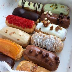 Eclair Bakery | New York | tasting box - chocolate, maple pecan, pistachio, pumpkin, praline