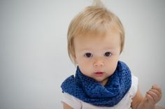 Pretty Dark Blue Periwinkle Lace Infinity Scarf  by LucillePaige, $13.00