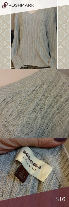 Nwt sonoma xl sweater Nwt beautiful grey sweater w touch of silver sparkle. Nice longer length. Sz xl Sonoma Sweaters