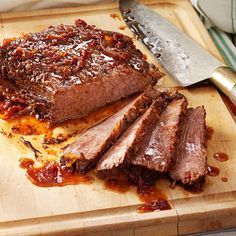 Sweet and Savory Brisket Recipe -I like this recipe not only because it makes such tender and flavorful beef, but because it takes advantage of a slow cooker. It's wonderful to come home from work and have this mouthwatering dish waiting for you. The beef doubles as a warm sandwich filling, too.—Chris Snyder, Boulder, Colorado