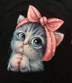 Cute Baby Cats, Cute Baby Animals, Cute Cat Wallpaper, Cat Posters, Cute Cartoon Wallpapers, Cat Drawing, Animal Drawings, Cat Art, Cats And Kittens