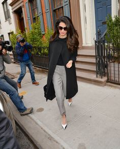 Amal Clooney out in NYC, April 12, 2018