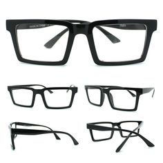b7faecaf6aa Unisex classic mod simple minimal rectangular horn rim glasses. (SKU  7583).