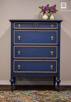 a dresser makeover with paint and nail head trim, bedroom ideas, how to, painted furniture