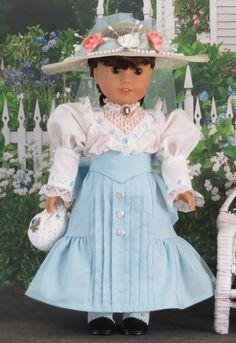 American Girl set 5pcs of top hat handbag bow-knot rosette kit 18/'/' doll