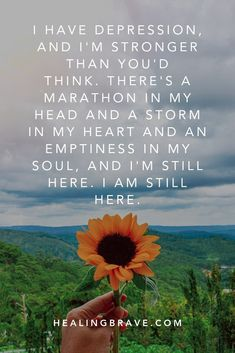 13 Depression Affirmations to Keep Hope Alive Mental And Emotional Health, Mental Health Quotes, Mental Health Awareness, Words Quotes, Me Quotes, Sayings, Rose Hill Designs, Words Of Hope, I'm Still Here