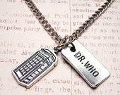 Dr Who Tardis necklace. $15.00, via Etsy.