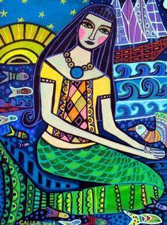 50% Off - Mermaid Angel Fairy art Art Print Poster by Heather Galler (HG612)