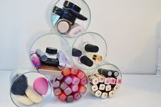 Say goodbye to messy counters and give your makeup a proper new home with these insanely cool (and adorable) DIY makeup organizers!