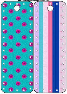 Floral Lilás Azul e Rosa - Kit Completo com molduras para convites, rótulos para guloseimas, lembrancinhas e imagens!