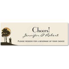 Island Paradise Wedding Drink Tickets