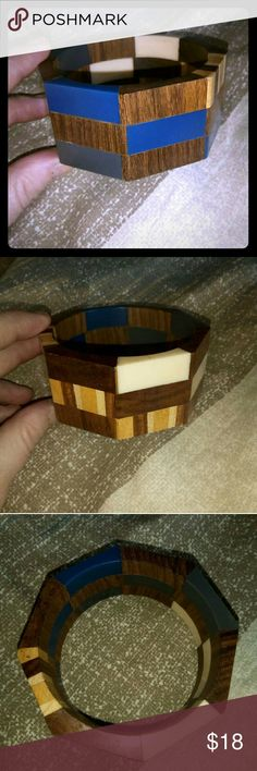 Mixed bracelet From Puerto Rico, made of wood and mixed materials/colors. Beautiful bracelet, I just never wear it.  BUNDLE AND SAVE! No reasonable offer refused! Thanks for shopping! Jewelry Bracelets