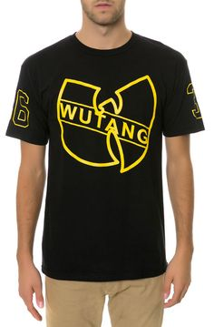 The WU Hockey League Tee in Black by Wutang Brand Limited
