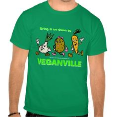 Official SNL Bring it on down to Veganville T-shirt