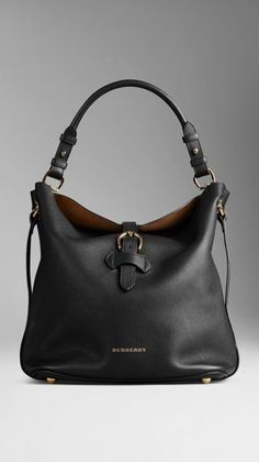 b331b925bc667 Burberry Medium Buckle Detail Leather Hobo Bag Modne Torebki, Torebki  Prada, Buty, Strój