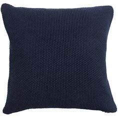 Navy Blue Knitted Cushion