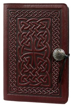 Leather Refillable Journal Celtic Braid 2 sizes | 3 Colors