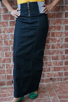 Jade Mackenzie - Long Dark Straight Denim Skirt, $42.00 (http ...