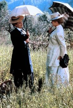 Eleanor Lavish and Charlotte Bartlett - Judi Dench and Maggie Smith in A Room with a View, set in the 1900s (1985).