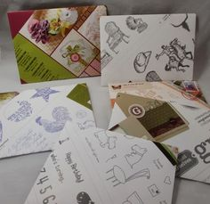 Stamp & Scrap with Frenchie:  Recycled Envelopes with Envelope Punch Board and old catalogs