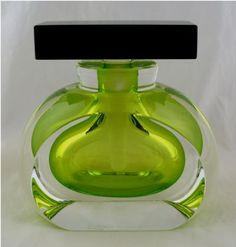 Correia's Chartreuse Geometric Perfume Bottle.