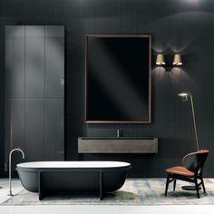 All black bathroom design