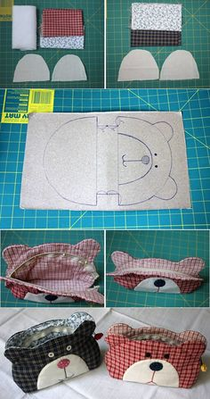 Teddy Bear Quilt Bag Tutorial ~