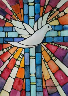 watercolor stained glass dove on etsy Stained Glass Church, Stained Glass Art, Christian Symbols, Christian Art, Stained Glass Designs, Stained Glass Patterns, Ostern Wallpaper, Remembrance Day Art, Stain Glass Cross