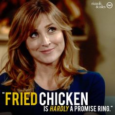 You can say a lot with fried chicken. #MauraMonday #RizzoliandIsles