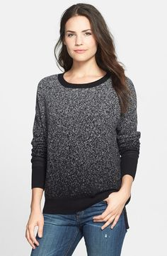 Halogen® Two-Tone High/Low Cashmere Tunic Sweater (Regular & Petite) available at #Nordstrom