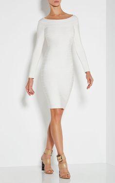 Candice Off-The-Shoulder Bandage Dress