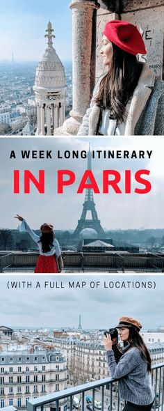 Read this article for a week long itinerary in Paris, France. As a travel blogger, I love making plans for exactly where I should go for the best photos. I compiled this in-depth itinerary from other bloggers and Parisian friends. Enjoy!