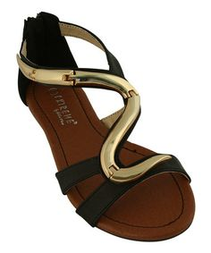 This Black Cobra Sandal by Eddie Marc & Co. is perfect! #zulilyfinds