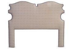 One Kings Lane - Vintage, Colorful & Antique - Shaped Headboard, Queen