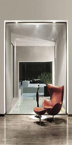 Egg Chair Designed By Arne Jacobsen 1958 At Abu Samra House Amman Jordan Symbiosis Designs